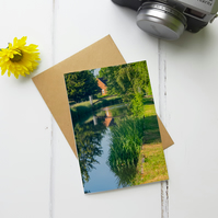 River Lea Walk, Greeting Card, Two Sizes Available
