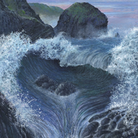 Storm at Mullion Cliff - ORIGINAL PAINTING