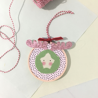 Sprout Veggie Mini Hoop Christmas Decoration