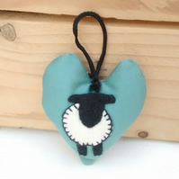 Lavender Door Hanging Decoration, Sheep  Design, Scented Heart