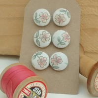 Fabric Buttons, Flower Buttons