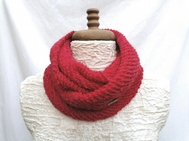 Red Snood Scarf