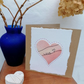 Valentine Card, Heart Greetings Card, Anniversary Card