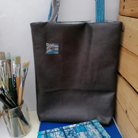 Tote Bag for Women in Imitation Snakeskin Fabric