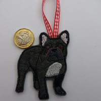 French bull dog Christmas tree ornament- hanging decoration