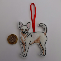 chihuahua hanging decoration - Christmas tree decoration bauble keep sake