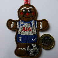 Gingerbread man footballer - Tottenham Hotspurs footballer Christmas decoration
