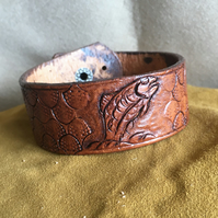 Hand Crafted Leather Bracelet Cuff