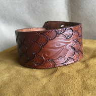 Hand Crafted Leather adjustable Bracelet Cuff