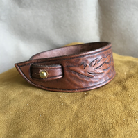 Hand Crafted Adjustable Leather Bracelet Cuff