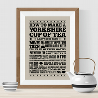 How To Make A Yorkshire Cup of Tea Print