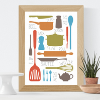Cooking Collection Print