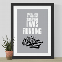 Forrest Gump Running Quote Print