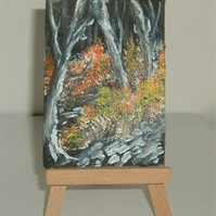 original art acrylic aceo painting ( ref F 214)