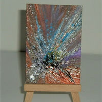 aceo original art abstract painting ( ref F 227)