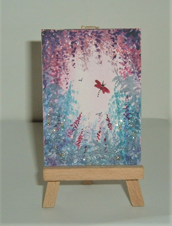 original art aceo fantasy painting ( ref F 220)