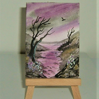 original art landscape painting ( ref F 229)