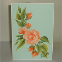 original hand painted greetings card ( ref F 248)