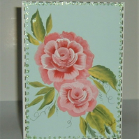 all occasion hand painted greetings card ( ref F 256)