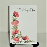 hand painted all occasion greetings card ( ref F 413)