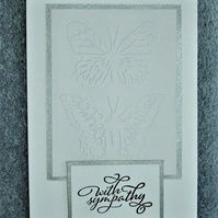 hand crafted Sympathy card ( ref F 426)