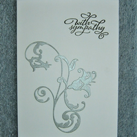 Hand crafted Sympathy card ( ref f 431)