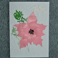 hand crafted floral all occasion card ( ref F 445)