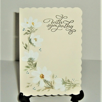 original hand painted Sympathy card ( ref F 480)