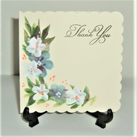 hand painted original art Thank You card ( ref F 503)