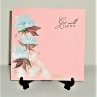 original hand painted Get Well card ( ref F 508