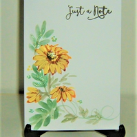 hand painted Note card ( ref F 512)