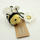 Reserved for Sue Crochet Bee Happy Hanging Decorations