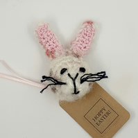 Crochet 'Hoppy Easter' Brooch - Alternative to a Card