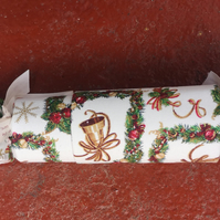 Homemade Christmas crackers, Green, white, wreaths and bells (9)