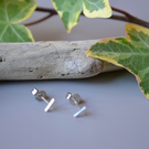 SILVER line stud earrings, delicate, 925, simple, gift, elegant, handmade, every