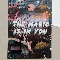 The Magic is in You A5 Illustrated Postcard