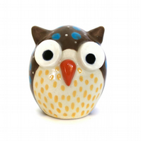 LARGE PERKY OWL-CERAMIC ORNAMENT