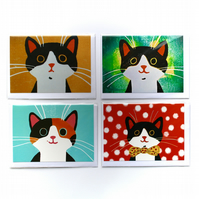 SPECIAL PRICE-FOUR CARD SELECTION PACK-CATS