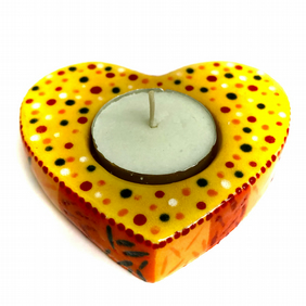 BOXED CERAMIC HEART SHAPED HANDMADE CANDLE HOLDER