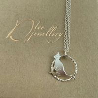 Cat Silver Pendent. Little Cat Sterling Pendant hand sawn by artist maker.