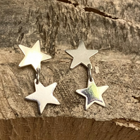 925 Silver Super Star Dangle and Drop Earrings, sterling silver. Posts. F&W