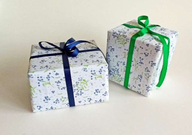 Forget-Me-Not gift wrap
