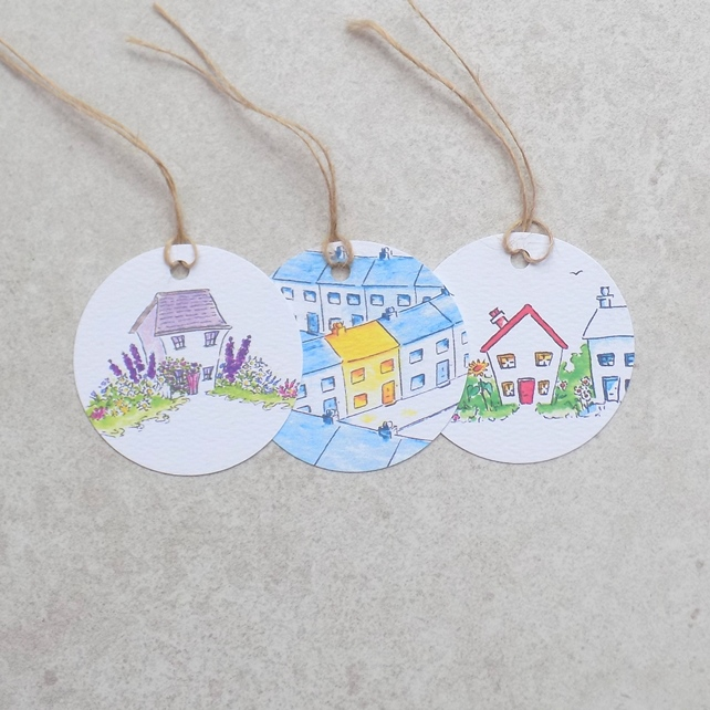 Pack of 2 gift tags of the same design of your choice, ecofriendly, group F