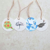 Pack of 2 gift tags of the same design of your choice, eco friendly, group G