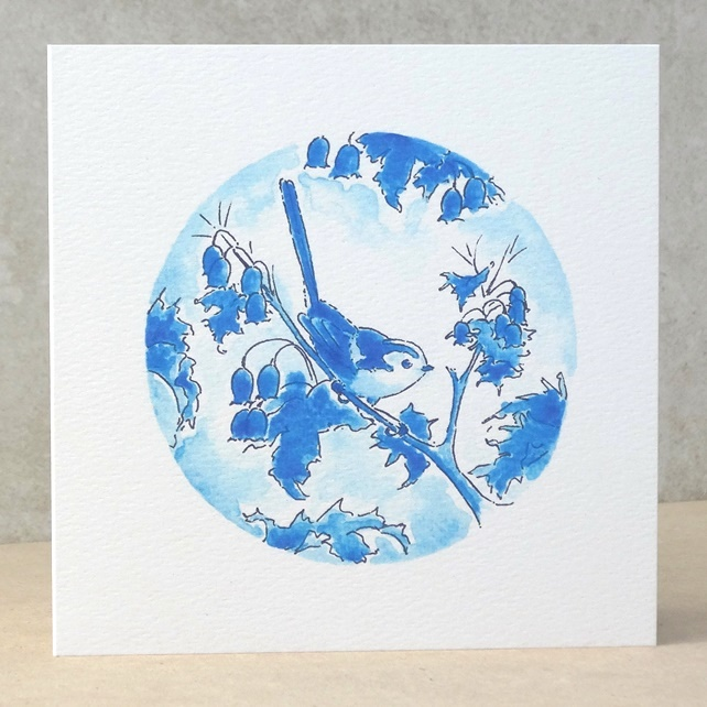 Blank Card 'Long Tailed Tit'  Ecofriendly