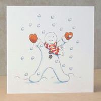 Christmas Card  Snowfall  Ecofriendly