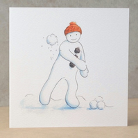 Christmas Card Snowball  Ecofriendly