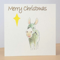 Christmas Card eco  Star Donkey