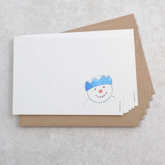 Christmas postcards (Pack of 6 cards) Ecofriendly