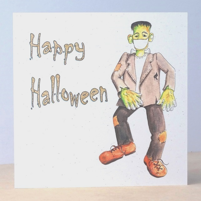 Halloween Card Frankenstein Ecofriendly